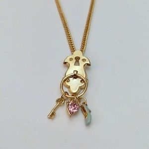New Disney couture necklace Cinderella key lock